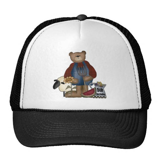 Country Bear 5th Birthday Gifts Hat