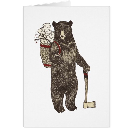 Country Bear Christmas Card