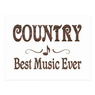 Country Best Music Post Cards