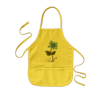 Country Blue Flower Kids Apron