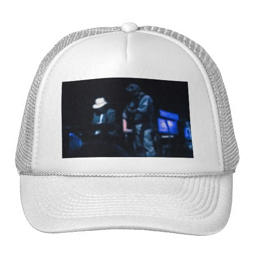 Country Blues Musicians Shadowy Impression Trucker Hat