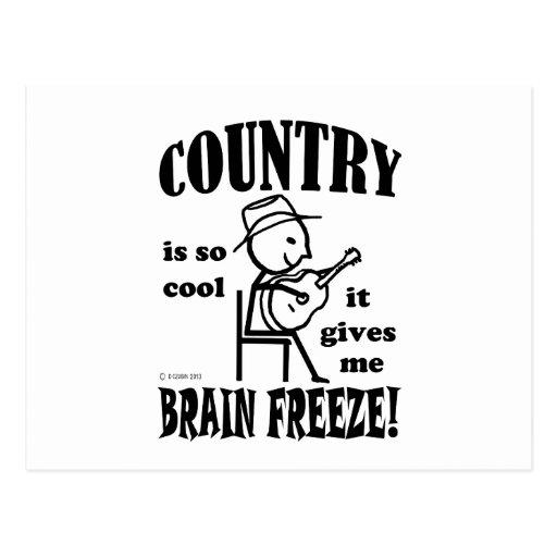 Country, Brain Freeze Postcards