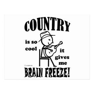 Country Brain Freeze Postcard