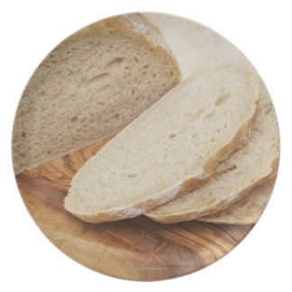 Country Bread (Pain de Campagne) on a chopping Dinner Plate