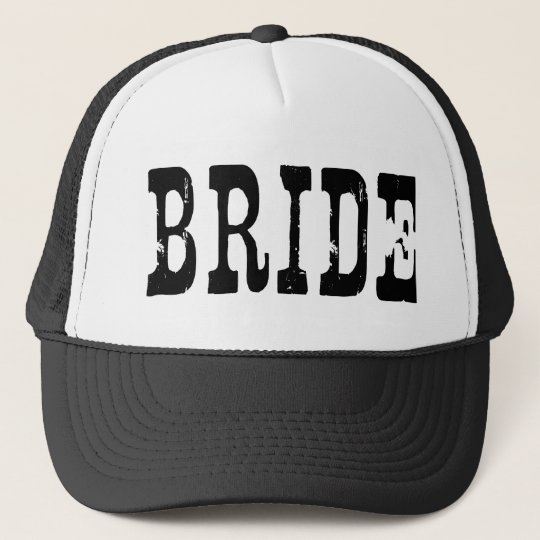 Country Bride Black Trucker Hat