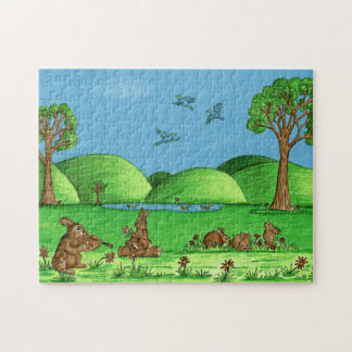 """Country Bunnies"" Jigsaw Puzzle with Gift Box"