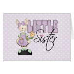 Country Bunny Little Sister (violet) Card