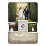 Country Burlap Wedding Photo Thank You Card 13 Cm X 18 Cm Invitation Card