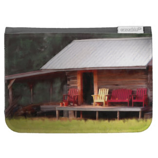 Country Cabin Adirondack Chairs Kindle 3G Covers