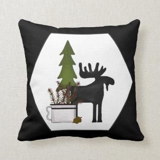 Country Cabin Moose throw pillow