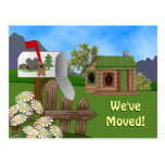 Country Cabin Moving announcement Notice