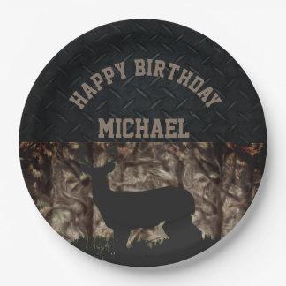 Country Camo Hunting Custom Birthday Plates