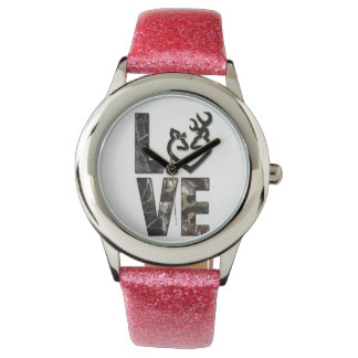 Country Camo Love Girl's Watch