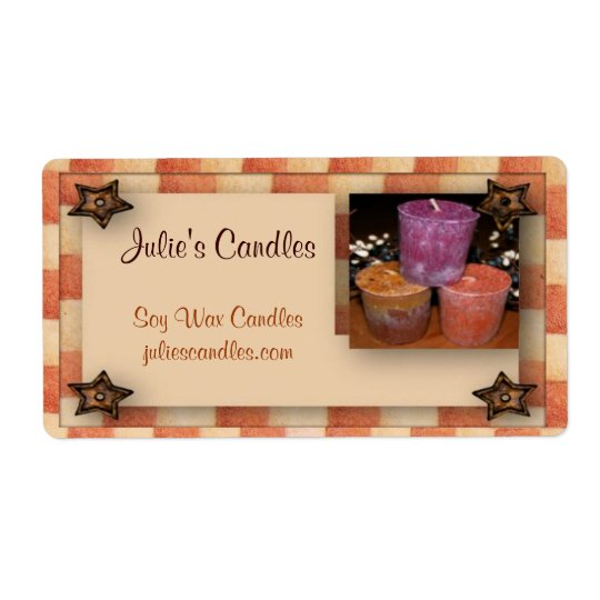 Country Candles Business Label