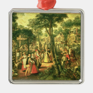 Country Celebration, 1563 Silver-Colored Square Decoration