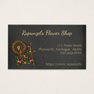 Country Chalkboard Flower Shop Business Card