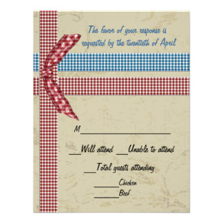 Country Charm RSVP Card Invites