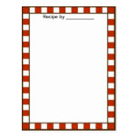 Country Chequered Recipe Blank #2 Card