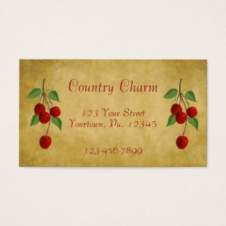 Country Cherries Business Card