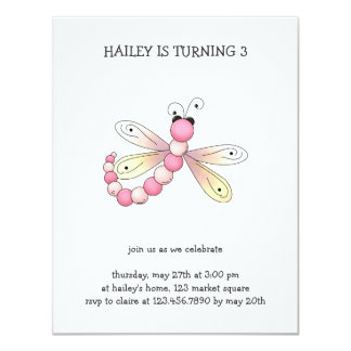 Country Cherries · Pink & Apricot Dragonfly. Personalized Invites