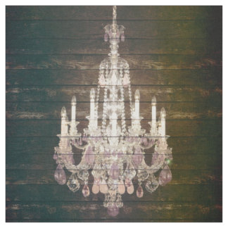 Country chic barn wood Rustic vintage chandelier Fabric