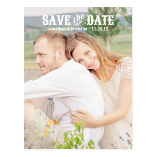 Country Chic | Photo Save the Date Postcards