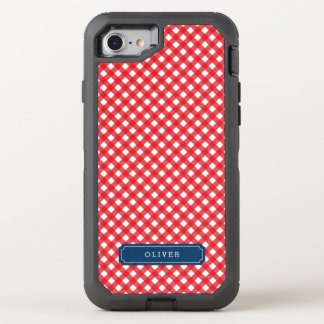 Country Chic Picnic Red Gingham OtterBox Defender iPhone 8/7 Case