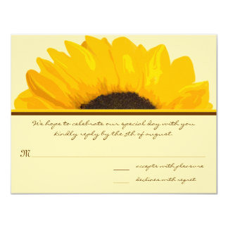 Country Chic Sunflower Response Card