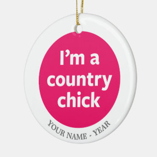 Country Chick Christmas Ornament