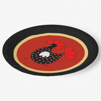 Country Chicken cartoon paper plate