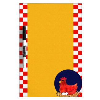 Country Chicken Dry Erase Board