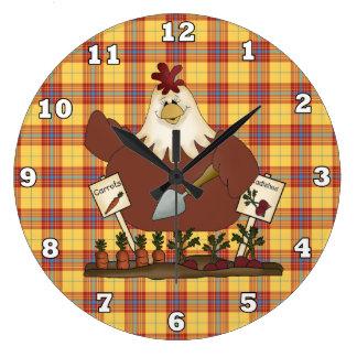 Country Chicken Kitchen wall clock
