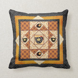 Country Chicks Faux Patchwork Pillow