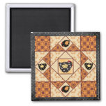 Country Chicks Quilt Patch Magnet
