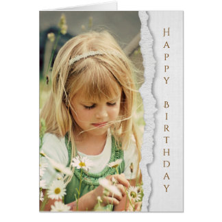 country child with wild daisies greeting card