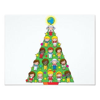 Country Children Christmas Tree Invitations