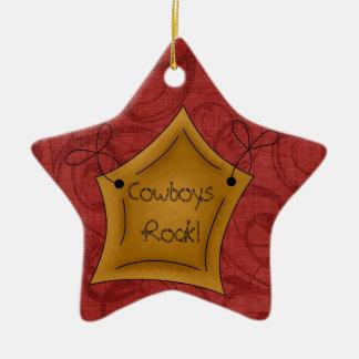 Country Christmas Cowboys Rock Star Christmas Ornament