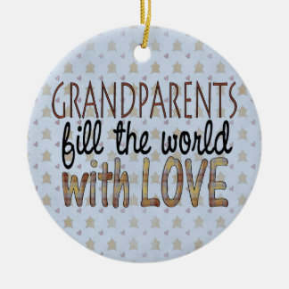 Country Christmas Grandparents Love Ornament