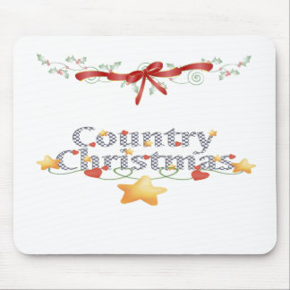 Country Christmas Mouse Pads