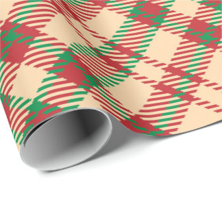 Country Christmas plaid wrapping paper