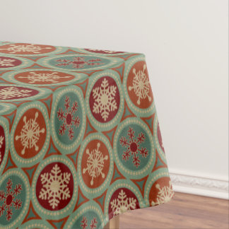Country Christmas snowflake pattern tablecloth