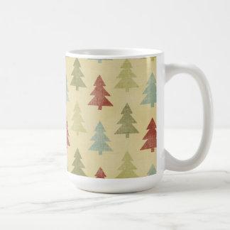 Country Christmas Trees Holiday Mugs