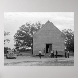 Country Church, Greshamville, Georgia, 1940s Print