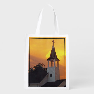 Country Church Reusable Grocery Bag