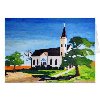 Country Church, Richland, Texas Card