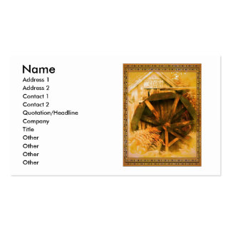 Country Cider Mill Water Wheel Business Card