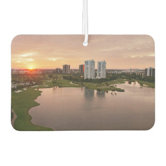 Country Club at sunset, Aventura, Florida Car Air Freshener