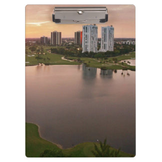 Country Club at sunset, Aventura, Florida Clipboard