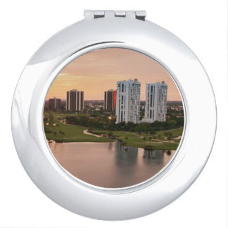 Country Club at sunset, Aventura, Florida Compact Mirrors
