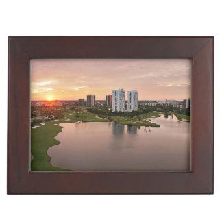 Country Club at sunset, Aventura, Florida Keepsake Box